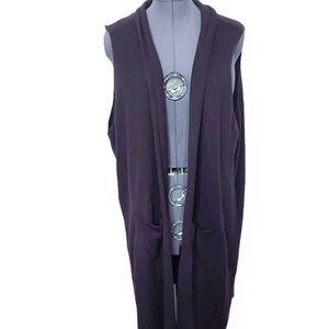 George Long Knit Sleeveless Cardigan Size 4X